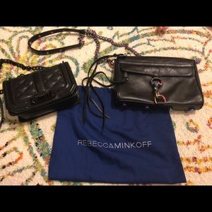 Bundle of two Black Rebecca Minkoff handbags